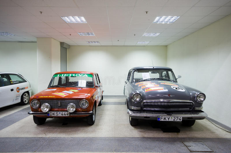 Demostración de coches en Vilnius imagen de archivo libre de regalías