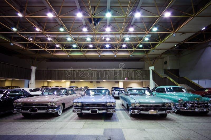 Demostración de coches en Vilnius imagenes de archivo