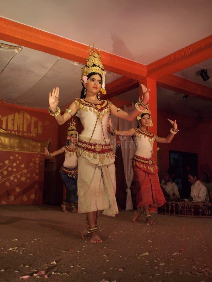 Demostración de la danza de Apsara imágenes de archivo libres de regalías