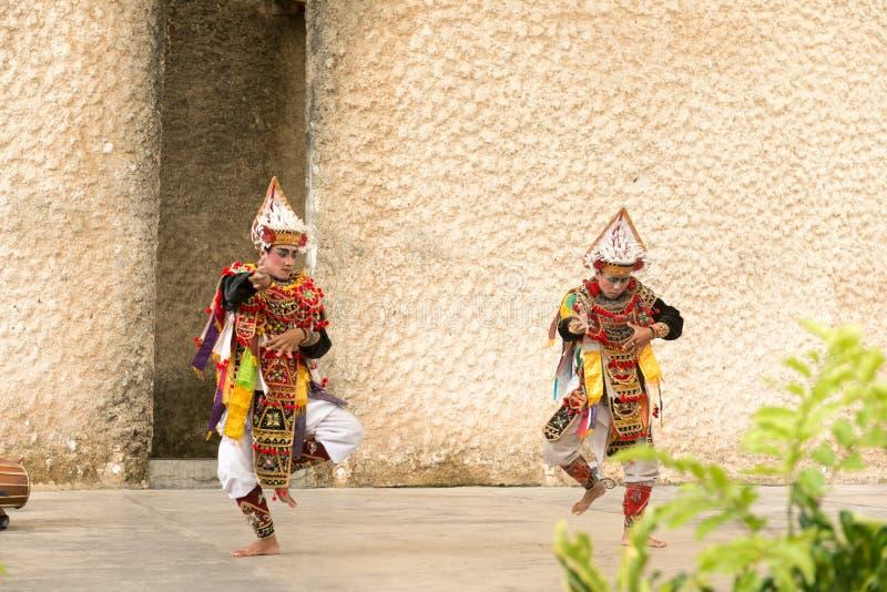 Demostración de la danza de Barong imagen de archivo libre de regalías