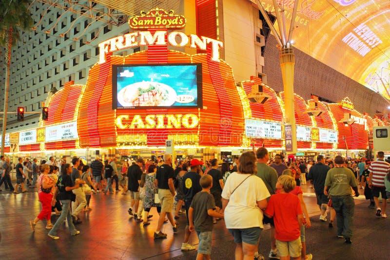 Demostración de la luz de la visión de Viva en el fremont en Las Vegas imagen de archivo libre de regalías