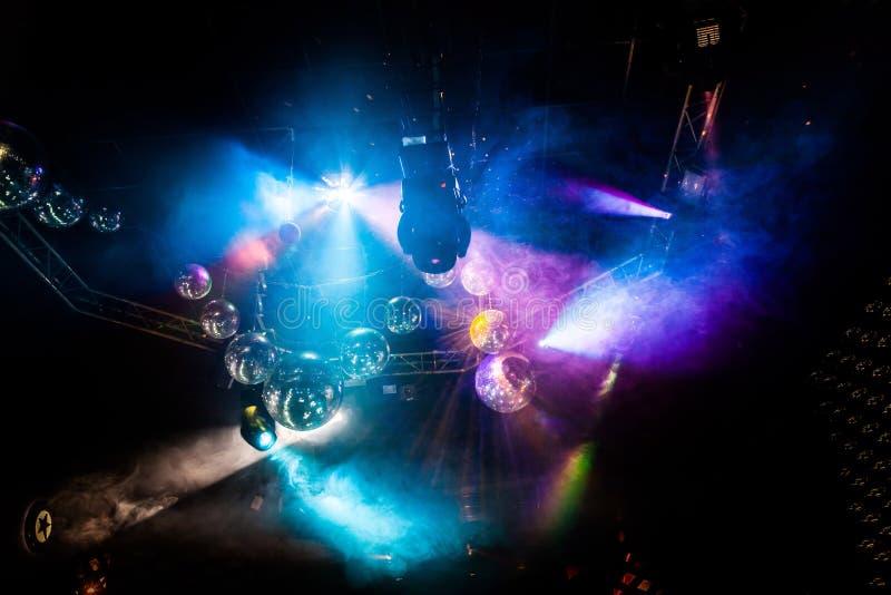 Demostración de la luz del disco, luces de la etapa imagen de archivo libre de regalías
