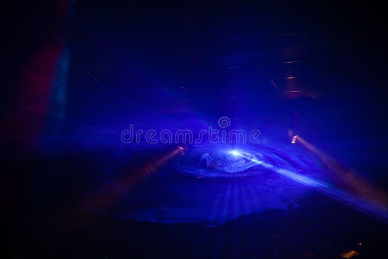 Demostración de la luz del disco, luces de la etapa foto de archivo