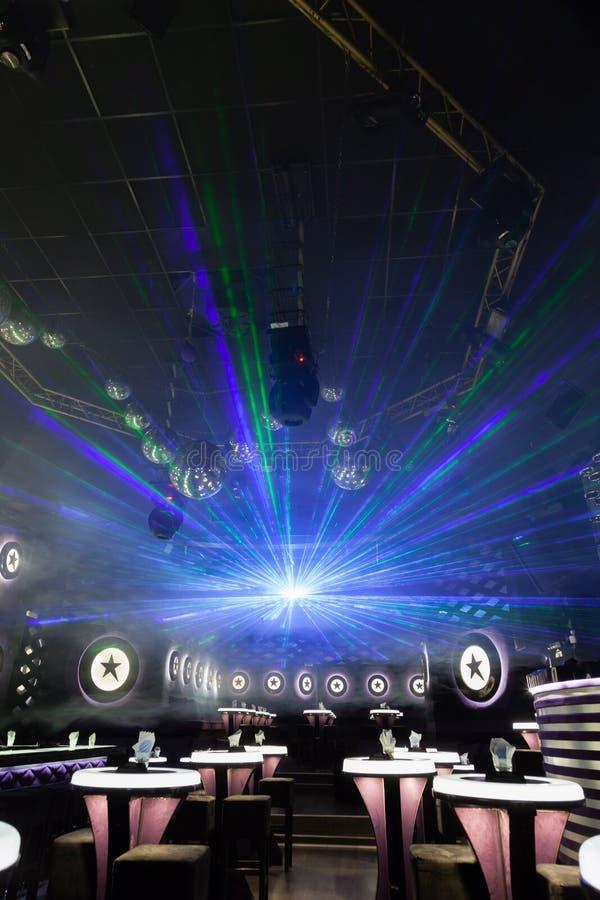 Demostración de la luz del disco, luces de la etapa imagenes de archivo