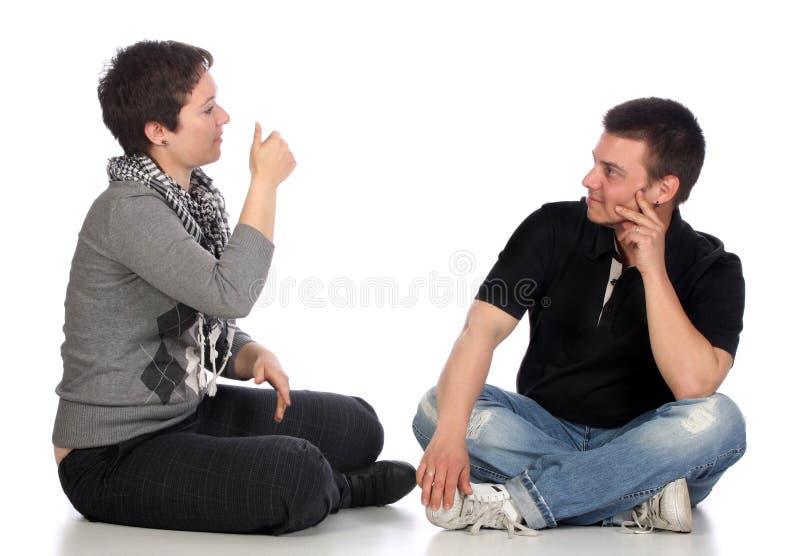 Demostración de la mano de las personas sordas fotos de archivo libres de regalías