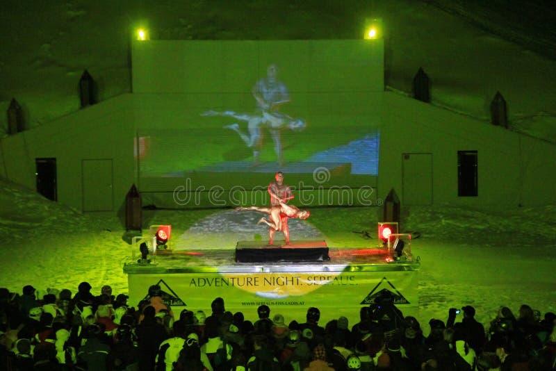 Demostración de la Sensación--música en Komperdell, Austria imágenes de archivo libres de regalías