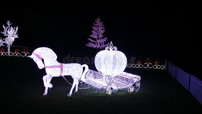 Demostración de las luces de la Navidad fotografía de archivo