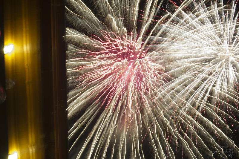 Demostración de los fuegos artificiales fotos de archivo