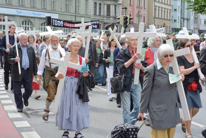 Demostración del Anti-aborto fotos de archivo libres de regalías