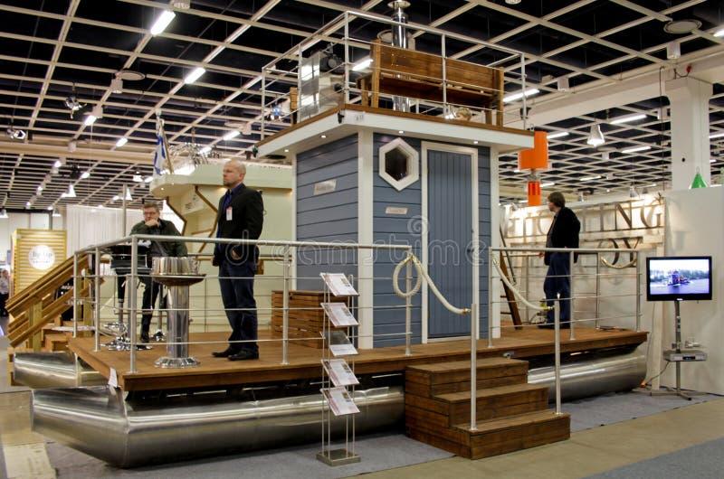 Demostración del barco del ab del Sauna-Barco foto de archivo