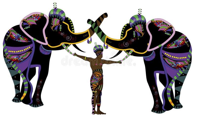 Demostración del circo stock de ilustración