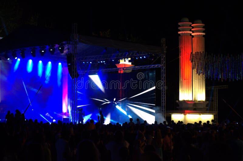 Demostración del concierto de la celebración de la ciudad de Varna fotos de archivo