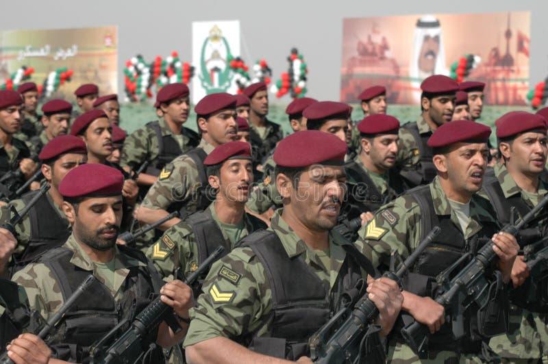Demostración del ejército de Kuwait foto de archivo libre de regalías