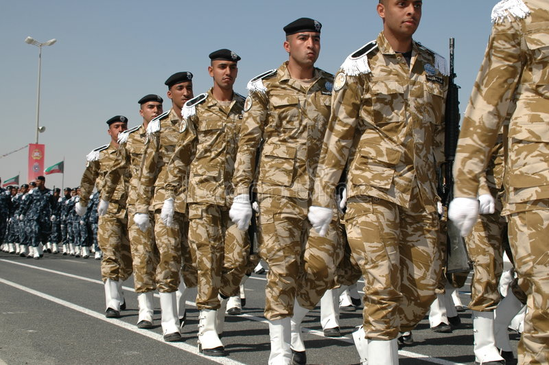 Demostración del ejército de Kuwait fotografía de archivo libre de regalías