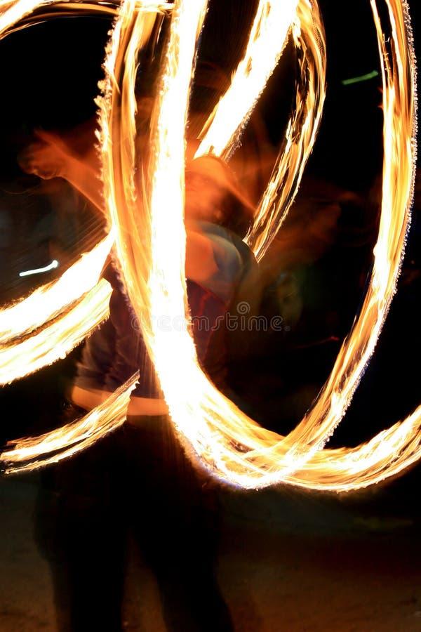 Demostración del fuego - el zhangler tuerce la antorcha imagen de archivo libre de regalías