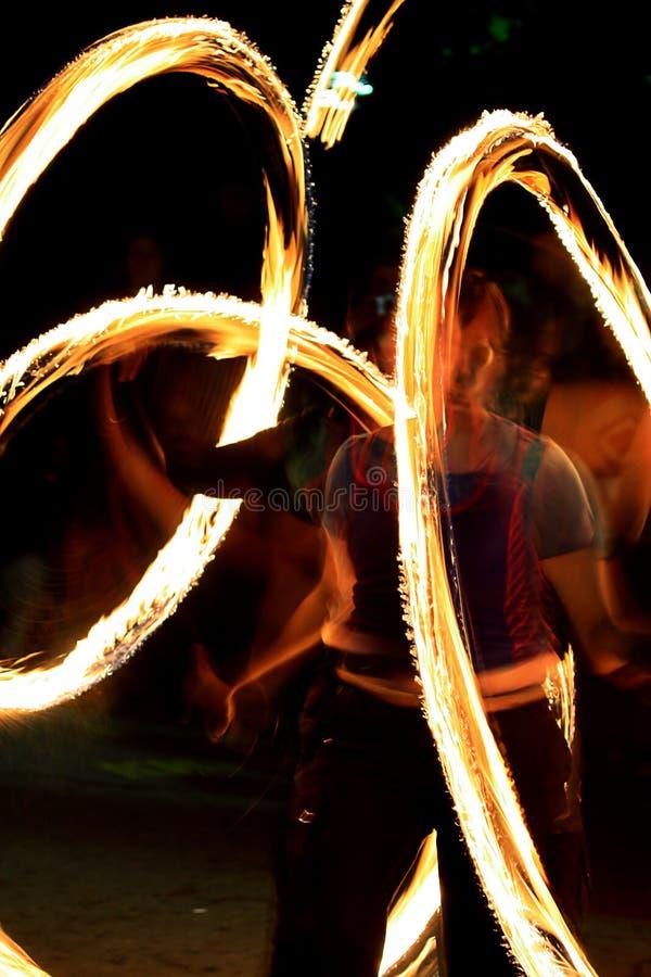 Demostración del fuego - el zhangler tuerce torch_2 fotografía de archivo