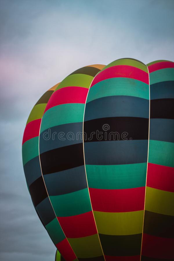 Demostración del globo del aire caliente fotografía de archivo libre de regalías