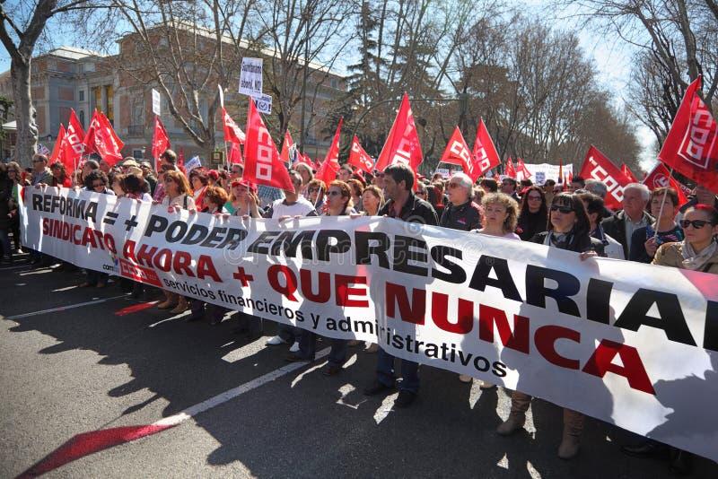 Demostración del Partido Comunista de España fotos de archivo libres de regalías