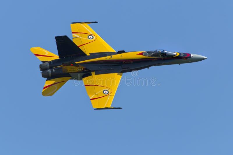 Demostración 2016 del St Thomas Airshow CF-18 imagenes de archivo