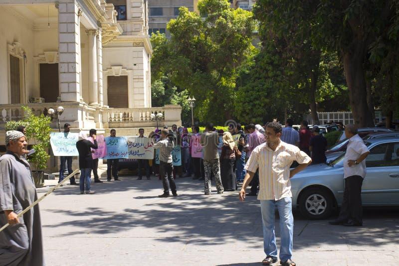 Demostración en el área del EL Dokki, El Cairo, julio de 2012 fotografía de archivo libre de regalías