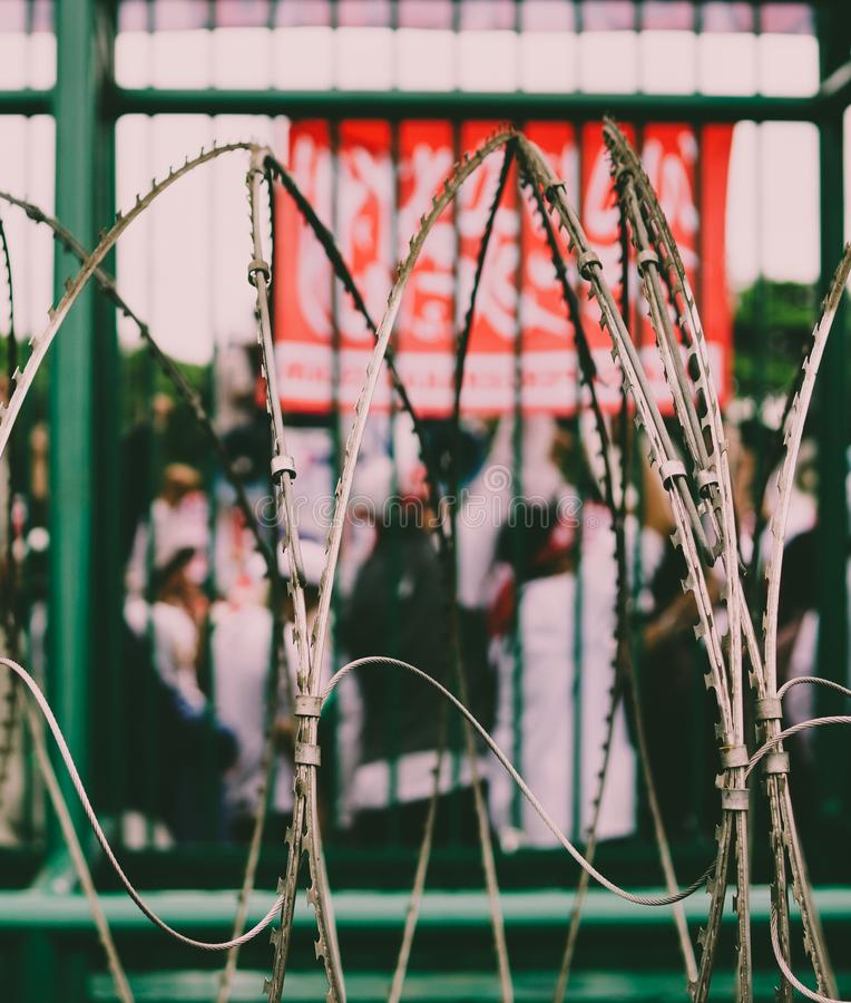 Demostración en Indonesia fotografía de archivo