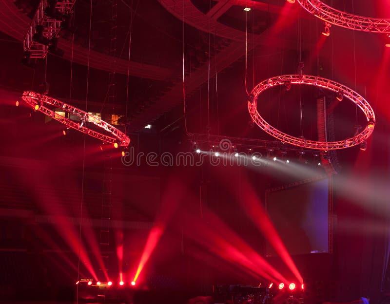 Demostración ligera en el concierto fotografía de archivo