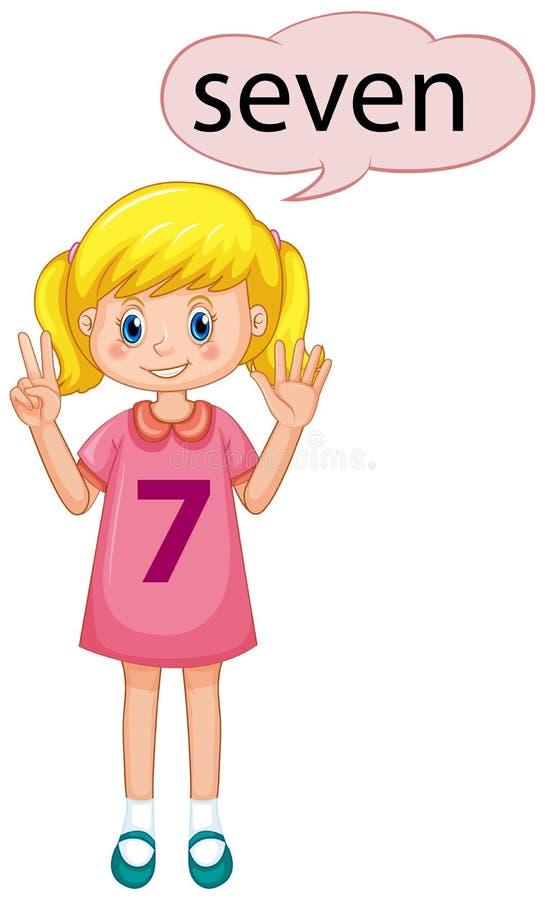 Demostración número siete de la muchacha libre illustration