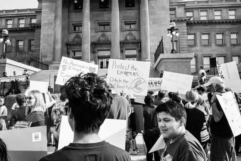 Demostración pacífica de los soñadores fotos de archivo