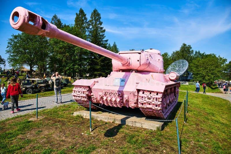 Demostraci?n del d?a abierto en museo militar en Lesany fotografía de archivo