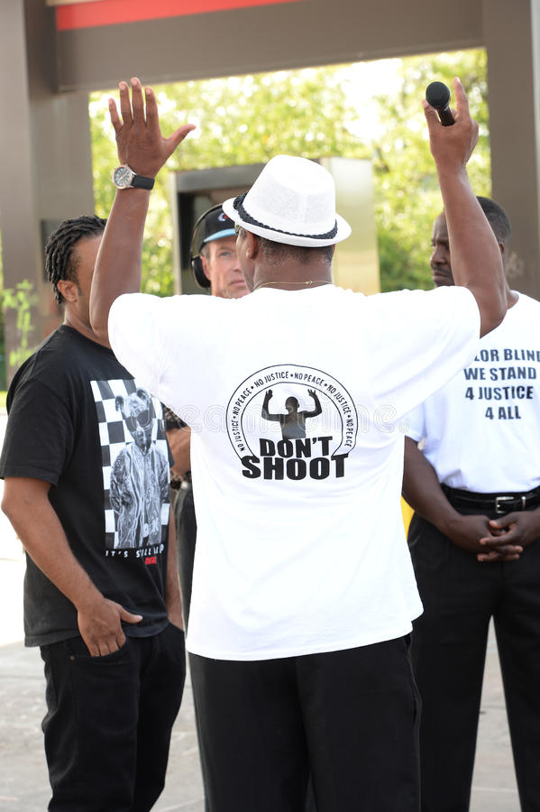 Demostraciones de Ferguson imagen de archivo
