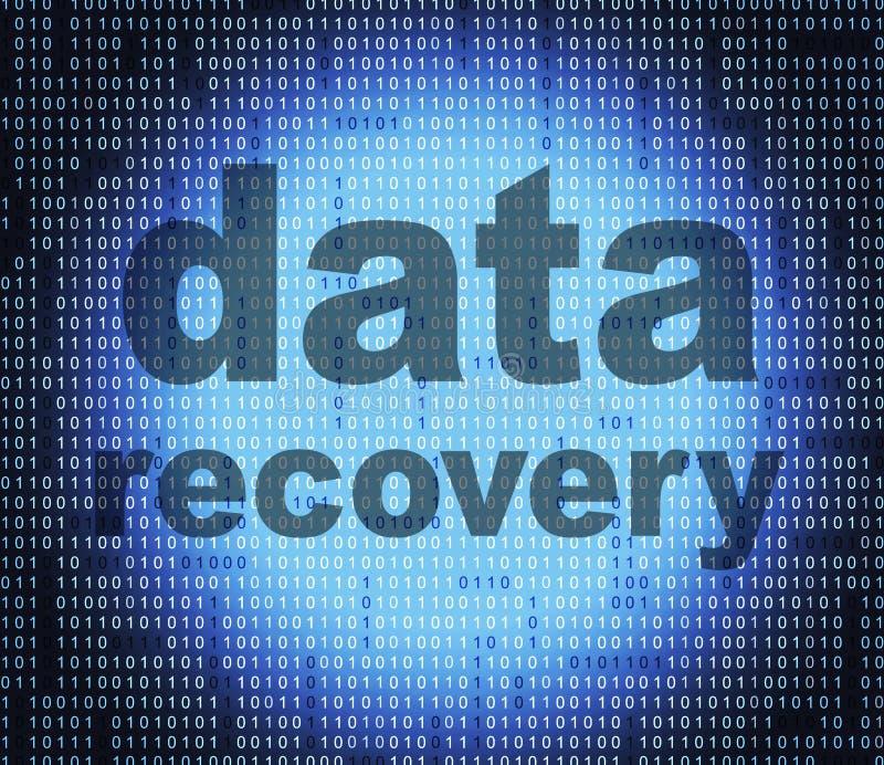 Demostraciones de la recuperación de los datos que consiguen la parte posterior y bytes stock de ilustración