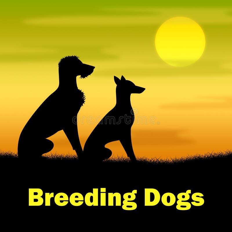 Demostraciones de perros de la cría que reproducen el perrito y colmillos libre illustration