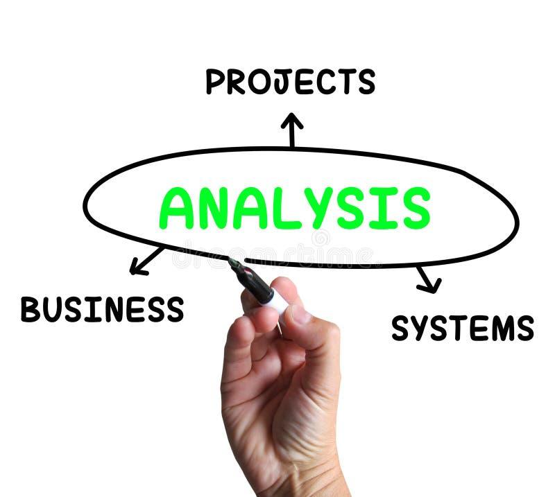 Demostraciones del diagrama del análisis que investigan negocio ilustración del vector