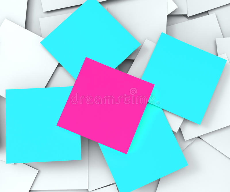 Demostraciones en blanco Copyspace de los mensajes del post-it libre illustration
