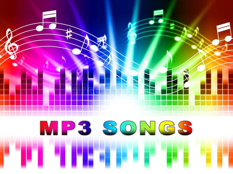 Demostraciones Melody Listening And Sound Tracks de las canciones Mp3 ilustración del vector