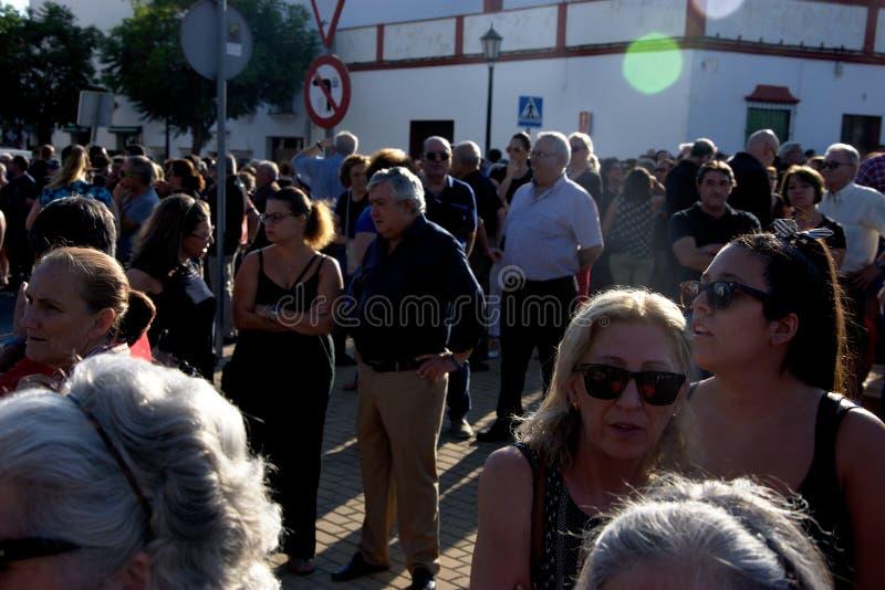 Demostraion em favor da segurança em Carmona 72 fotografia de stock royalty free
