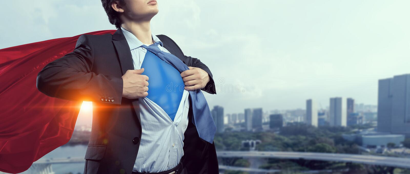 Demostrating his strength and courage royalty free stock photos