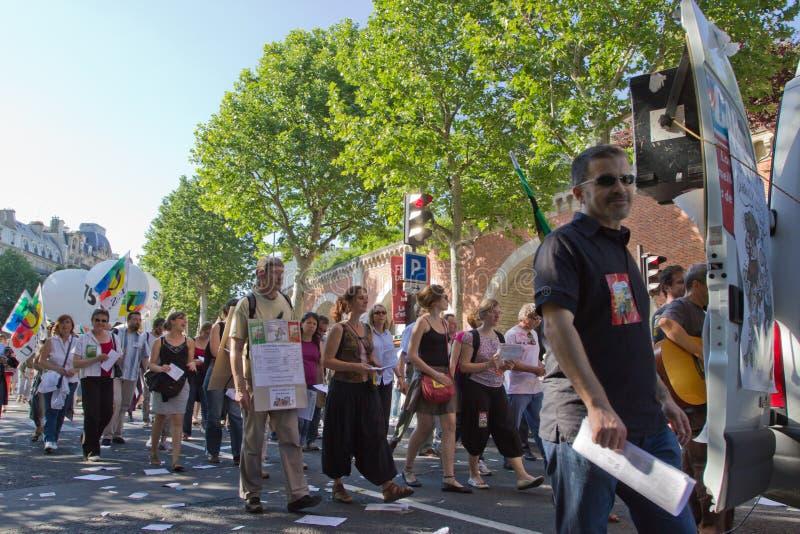 demostration Παρίσι στοκ φωτογραφία