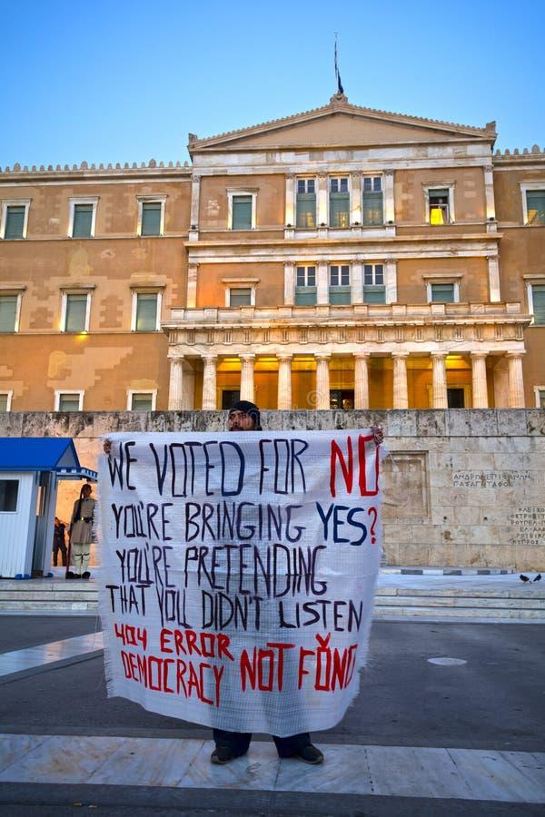 demostration do #stopausterity fotos de stock royalty free