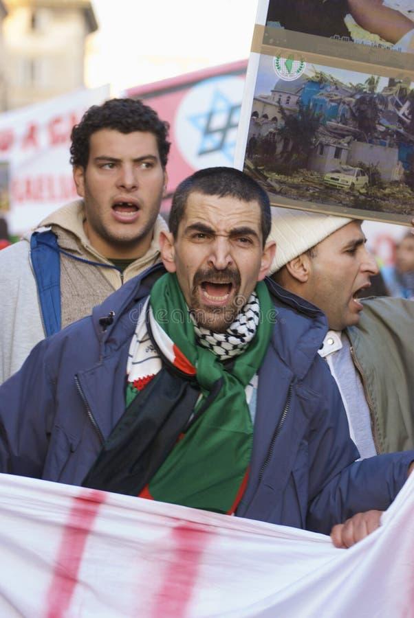 demostration pro palestine arkivbild