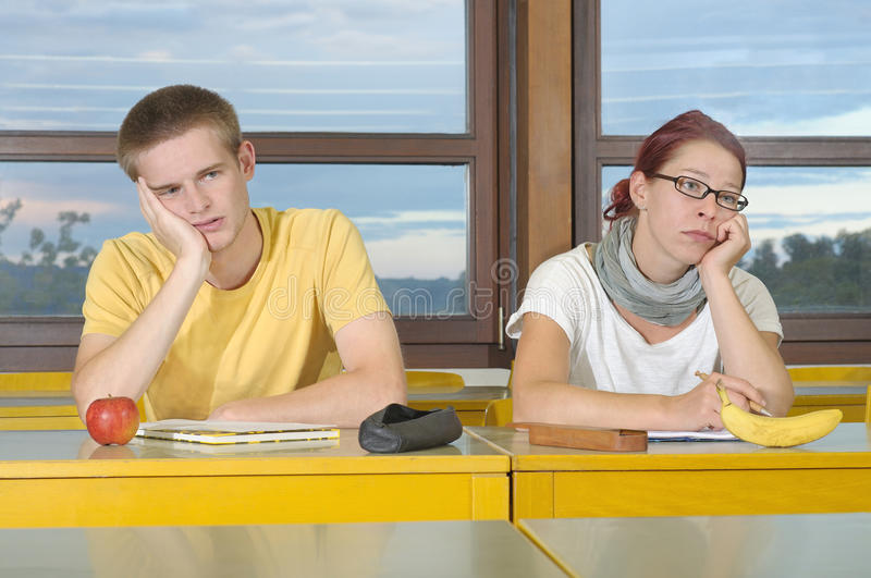 Demotivated lecture stock photos