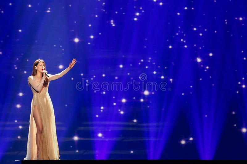 Demy from Greece Eurovision 2017 stock image