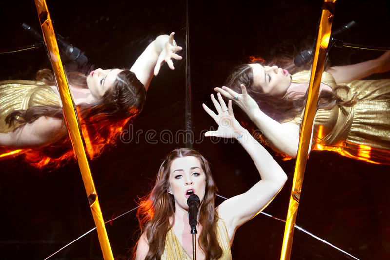 Demy from Greece at the Eurovision Song Contest royalty free stock photos