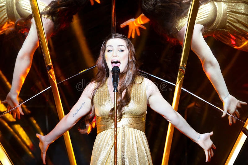 Demy from Greece at the Eurovision Song Contest royalty free stock photography