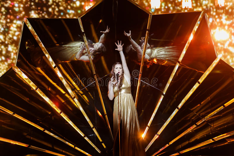 Demy from Greece at the Eurovision Song Contest stock images