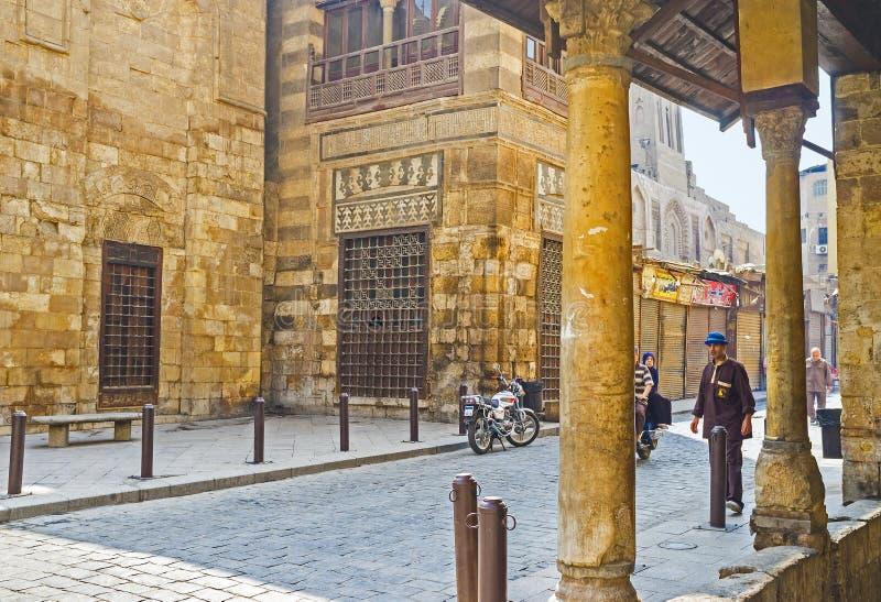 Den äldsta gatan i Kairo arkivfoton
