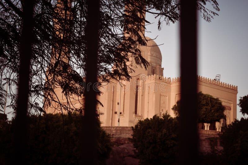 Den äldsta moskén i Aswan arkivbilder