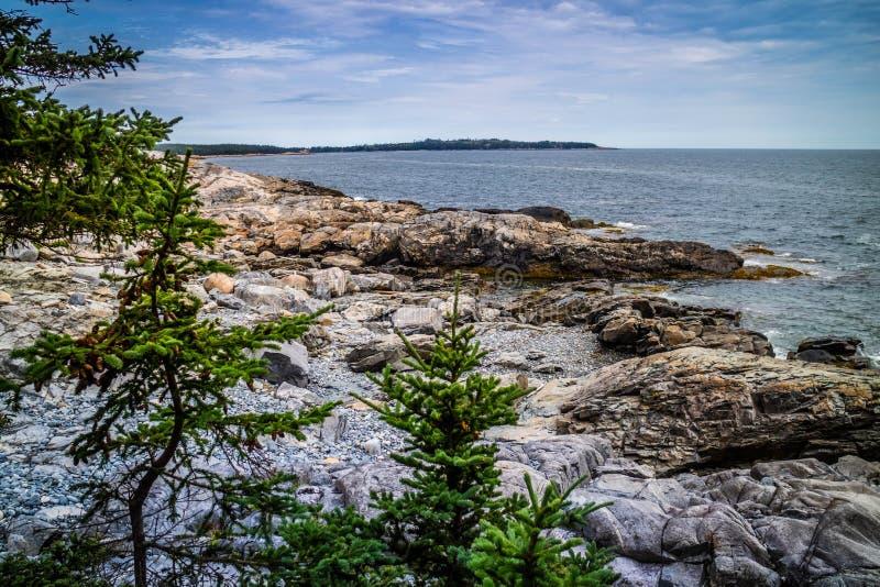 Den älskvärda Duck Harbor Isle auen Haut i Acadianationalparken, Maine royaltyfri foto