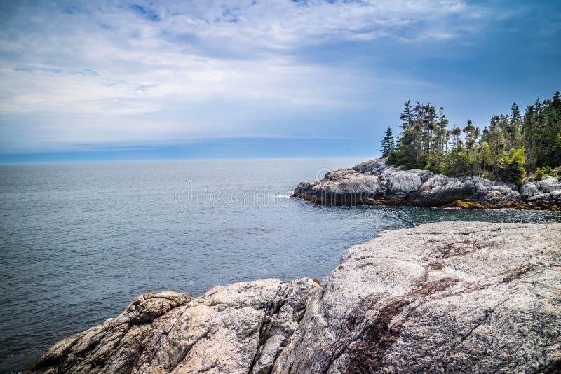 Den älskvärda Duck Harbor Isle auen Haut i Acadianationalparken, Maine royaltyfria bilder