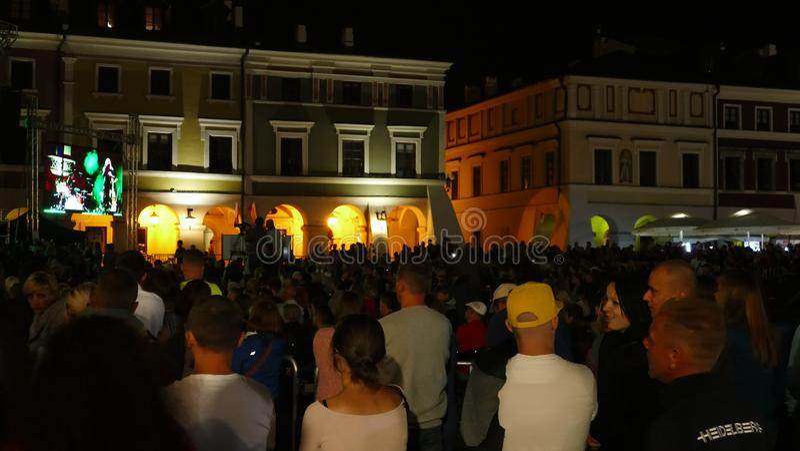 Den årliga Zamosc stadsfestivalen royaltyfri foto